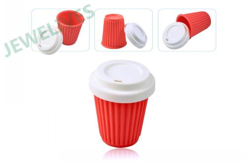 Food Grade Silcone Coffee cup with lid