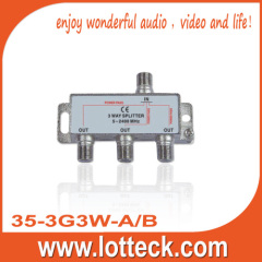 7.5-12.5dB Insertion Loss 35-3G3W-A/B 3- WAY SPLITTER