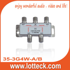 CE approved 1 IN 3 OUT SAT 4-WAY-SPLITTER
