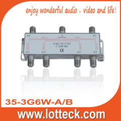 LOTTECK 35-3G6W-A/B SAT 6-WAY SPLITTER