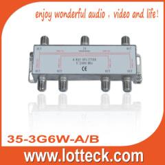 LOTTECK 35-3G6W-A/B SAT 6-WAY SPLITTER