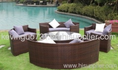 Outdoor Rattan Wicker Garden Lawn Deck Furniture Sofa Set