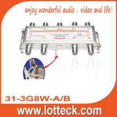 13.5-19.5dB Insertion Loss SAT 8 way splitter