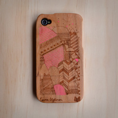Wood Carved Cell Phone Case