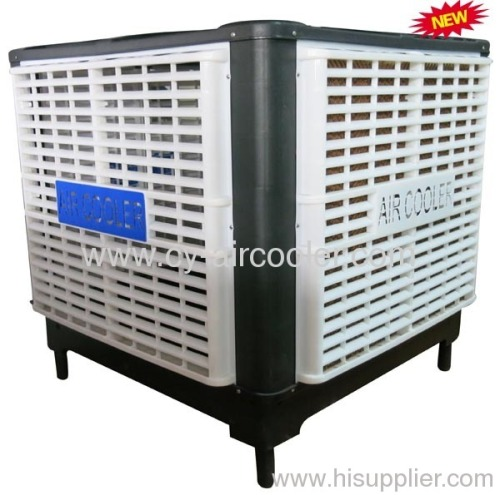 Roof Mounted Swamp Coolers : Powerful down discharge axial water evaporative cooling