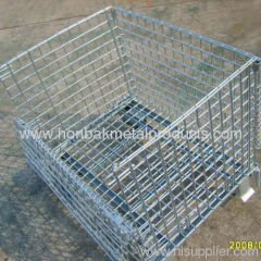 metal wire mesh container/storage cage