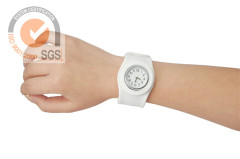 Pop white Silicone Watch with Rubber Brand & Digital watch