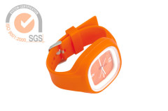 Promo Colorful Silicone & Rubber Sport Watches in orange
