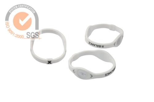 Promo Slicone & Rubber wrist Brank in White