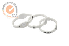 Promo Slicone & Rubber wrist Brank in White with printed