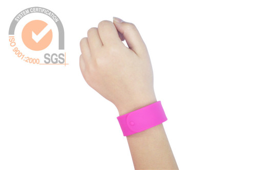 Promo Silicone & Rubber wrist Band in Rosed Color