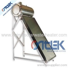 High pressure compact flat plate solar water heater