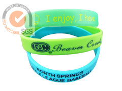 Promo Silicone & Rubber Wrist Band With printed logo