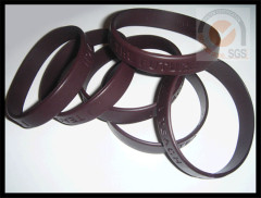 Sport Color Rubber Wist Brand With Embossed Logo