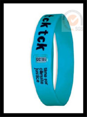 Promo Sport Color Silicone & Rubber Wist Band With Printed