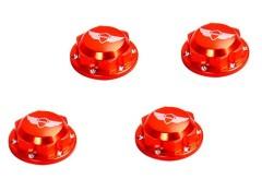 CNC Silver Baja enclosed wheel nuts