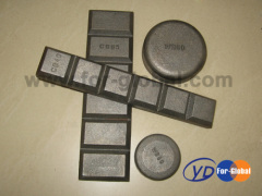 Excavator part antiwear wear plate for bucket wear button