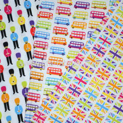 the charms of British culture printed Cotton Poplin For Garment/Dress