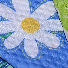 Beautiful printed cotton seersucker fabric or T/C plisse