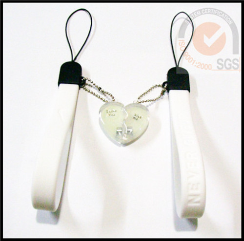 Fashional Silicone phone strap in White Color