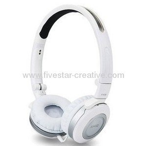 AKG K430 On-Ear Stereo Headphones with Volume Control--White