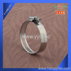 Stainless steel worm drive clamp