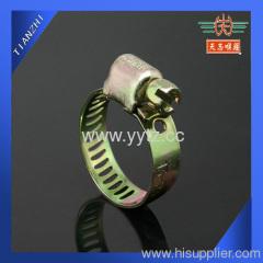 yellow chromium plated hose clamp