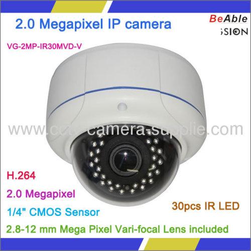 "1/4"" CMOS Sensor Day and Night H.264 2.0 Megapixel IP WIFI camera"