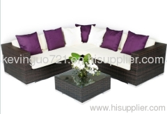4 Piece Rattan Garden Furniture Patio Corner Sofa Set