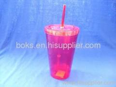 durable double wall plastic straw cups