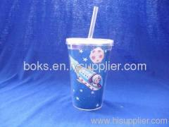 double plastic straw cups