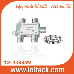 one in 4 out 12-1G4W 4-way splitter