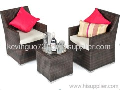 3 Piece Rattan All Weather Furniture Outdoor Garden Set