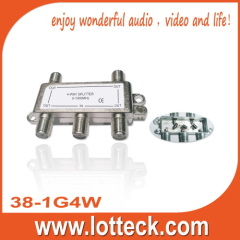 5-1000MHZ High Quality 1 in 4 out 4-way splitter