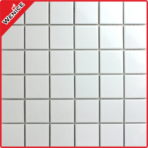 White color wall mosaic 48x48