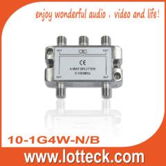 CE Certifcated 10-1G4W-N/B 4-WAY SPLITTER
