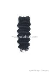 Deep wave/machine made hair weft