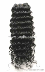 machine made hair weft/indian machine made hair