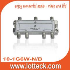 LOTTECK 10-1G6W-N/B 6-WAY SPLITTER