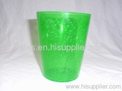 green transparent custom plastic water cups