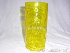 yellow durable eco-friendly plastic water cups