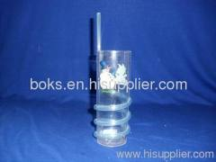 hard durable plastic straw cups