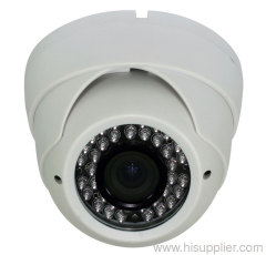 white color IR Plastic dome cameras