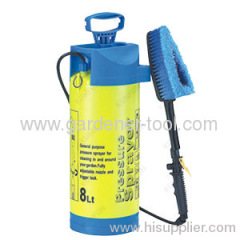 Plastic 8L Air Pressure Sprayer With Brush For Car Washing.