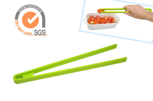 FDA 11.5inch Silicone Kitchen Food tongs in Green