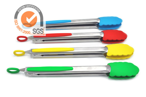 430 stainless steel Salad Tongs with Silicone handle