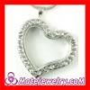 2013 New Pave Rhinestone Crystal Heart Shape Floating Charm Locket