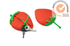Fashionable Silicone Key case Strawberry Style Promo