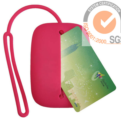 Promo Colorful Silicone Key case in cute shape in Red