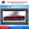 "Universal 2 din car DVD player with 6.2"" TFT"
